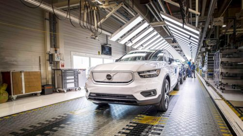 Volvo begins production of 2021 XC40 Recharge EV