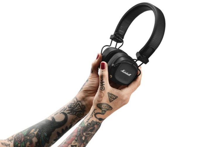 Marshall Major IV headphones boast an 80-hour battery life plus wireless charging