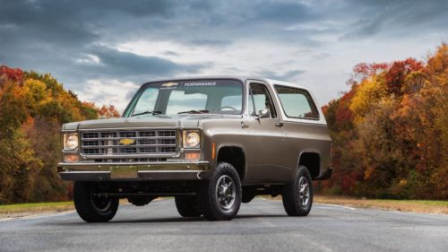 This 1977 Chevy K5 Blazer-E is an all-electric homage to the past