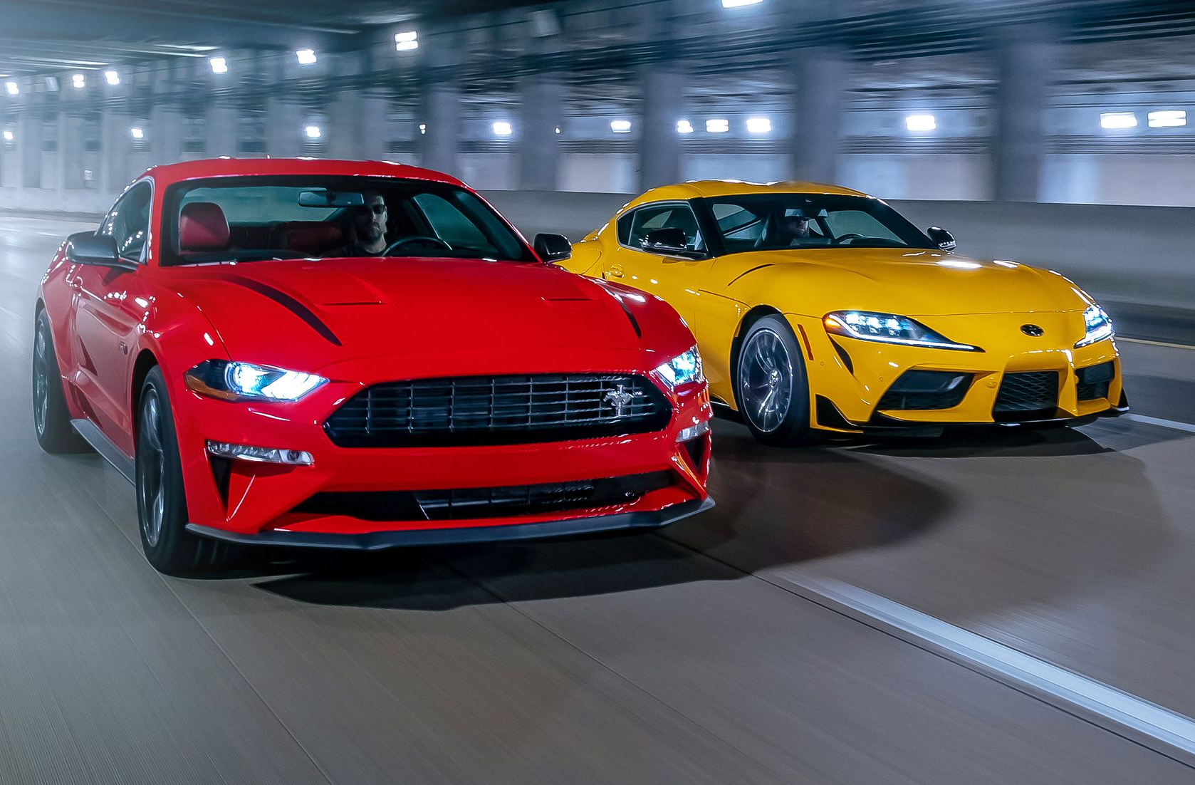 Tested: 2020 Ford Mustang 2.3L vs. 2021 Toyota Supra 2.0
