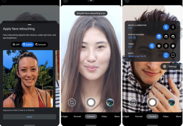 New Pixel 4a feature changes the language of selfie 'beauty' filters