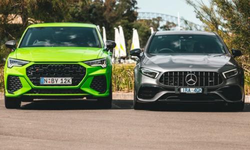 2020 Audi RS Q3 Sportback v Mercedes-AMG A45 S comparison : Hot 'hatch' review