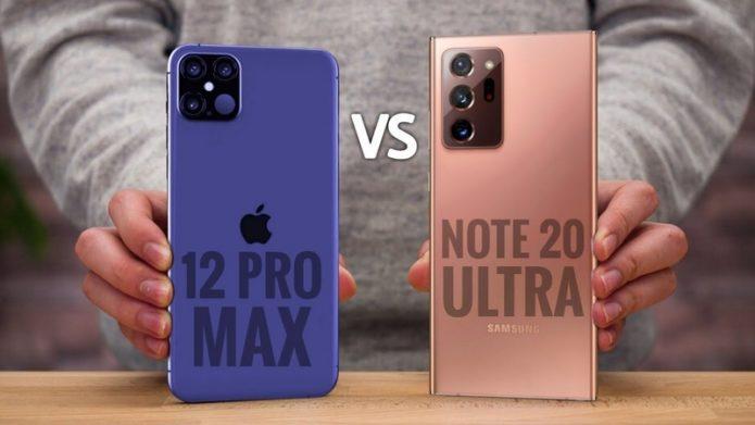 Samsung Galaxy Note 20 Ultra vs. iPhone 12 Pro Max