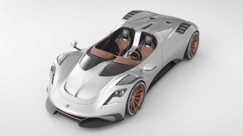 Ares S1 Project Spyder is a roofless and windshield-less version of the S Project Coupe