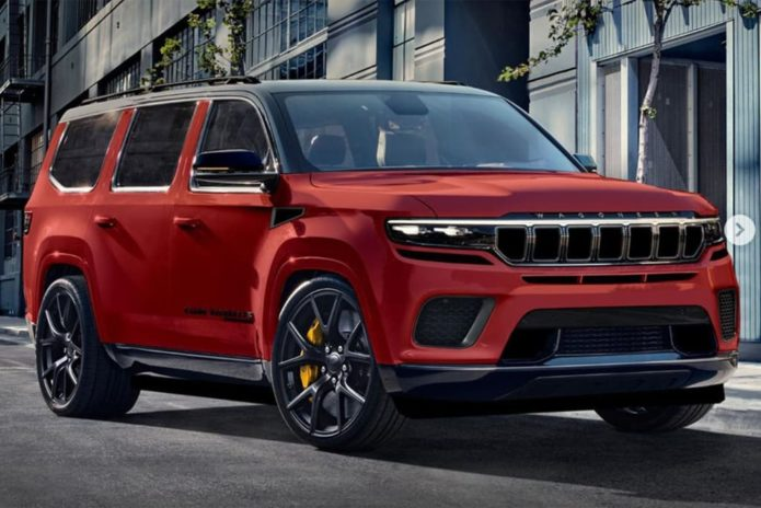Jeep Grand Wagoneer Trackhawk takes shape