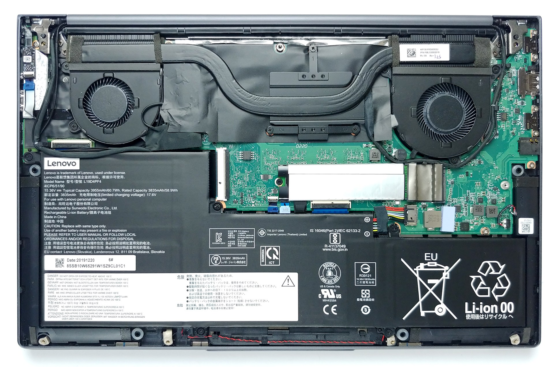 Inside Lenovo Yoga Slim 7 (15) – disassembly and upgrade options