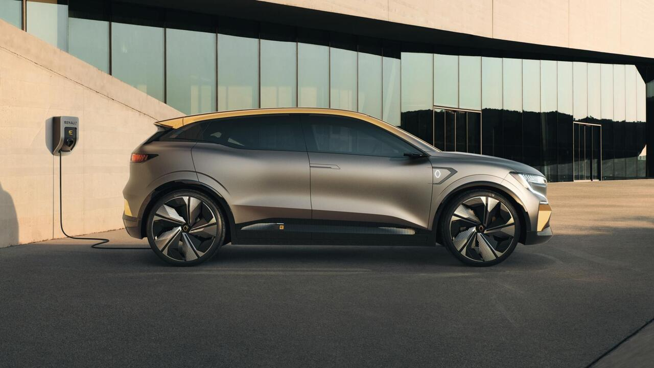 The Megane eVision Concept embodies the next generation of Renault family cars