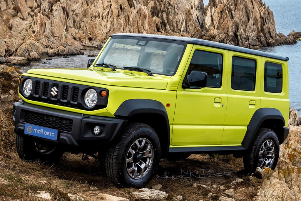 Suzuki Jimny five-door on track