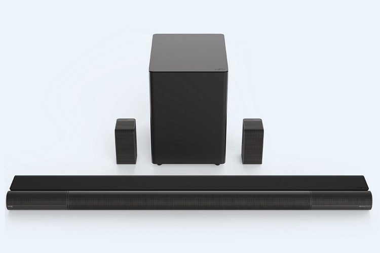Vizio Elevate Soundbar Has Moving Speakers That Rotate Forwards Or Upwards, Depending On A Movie's Sound Encoding