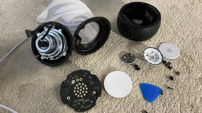 HomePod mini teardown warns owners not to pull the power cable