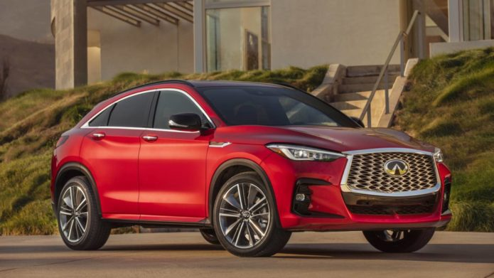 2022 Infiniti QX55 crossover coupe channels some FX spirit