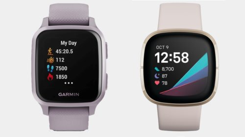 Garmin Venu Sq v Fitbit Sense: stress sensing sports watches compared