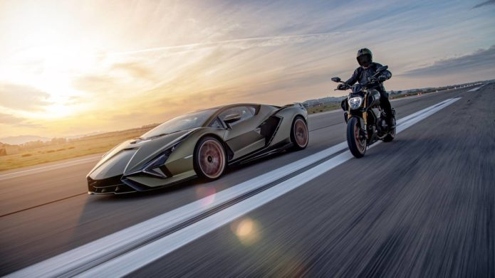 Lamborghini and Ducati have created a cruiser bike inspired by the Sian hypercar