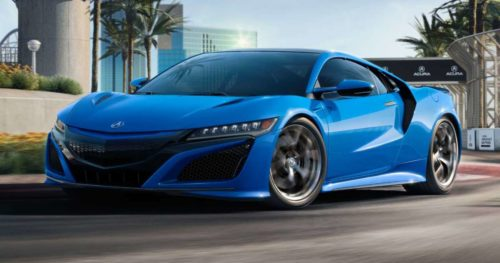 2021 Acura NSX Looks Retrotastic With Long Beach Blue Pearl Paint