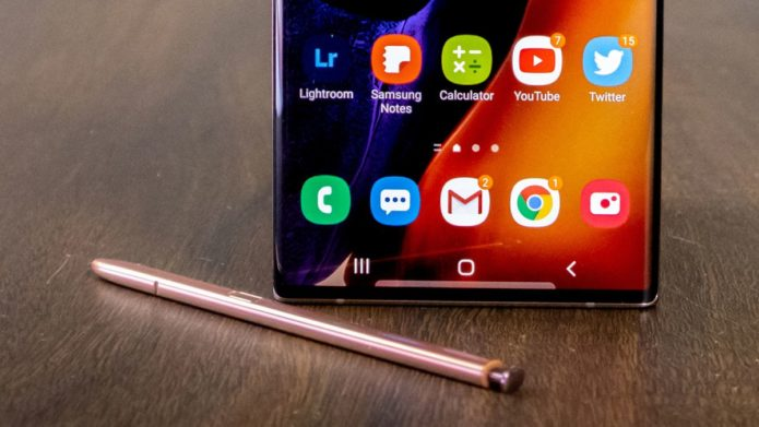 The Galaxy Note 20 FE appears in the fine print of Samsung's own site