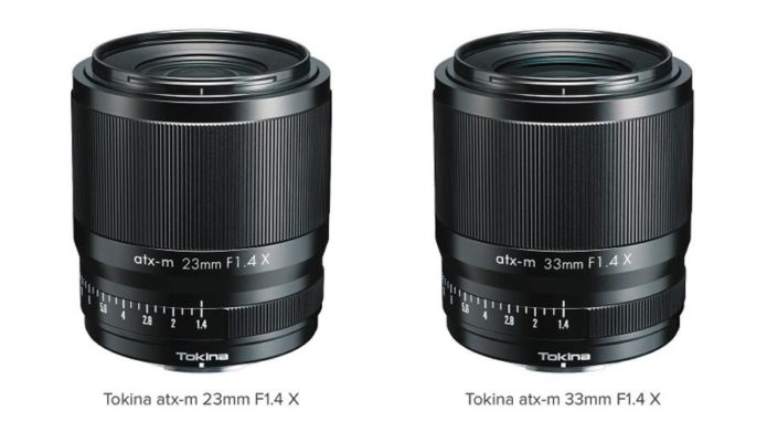 Tokina atx-m 23mm f/1.4 and 33mm f/1.4 Lenses Announced