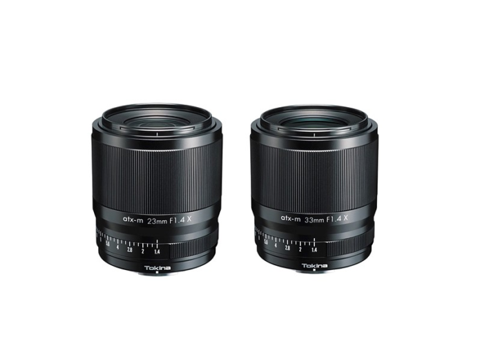 Tokina unveils 23mm and 33mm F1.4 atx-m series lenses for Fujifilm X-mount camera systems