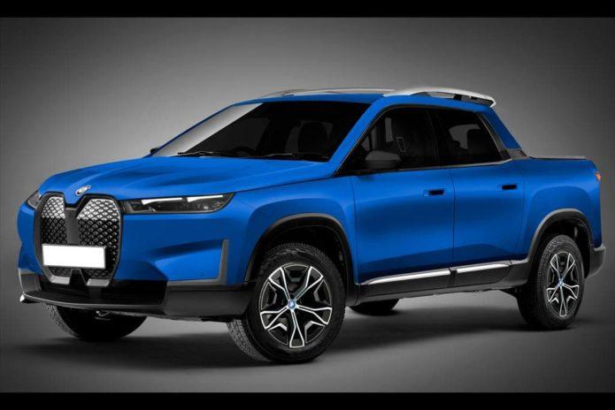 BMW iX EV pick-up imagined
