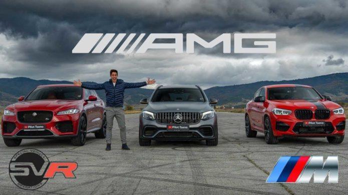 BMW X4 M vs Mercedes GLC 63 S vs Jaguar F-Pace SVR Race For SUV Dominance