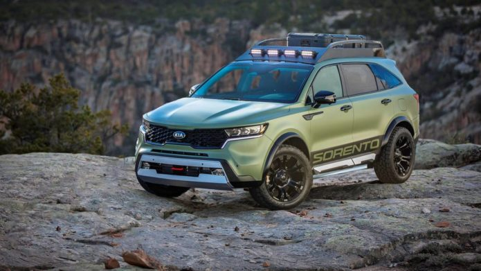 Modified Kia Sorento SUVs are ready to adventure