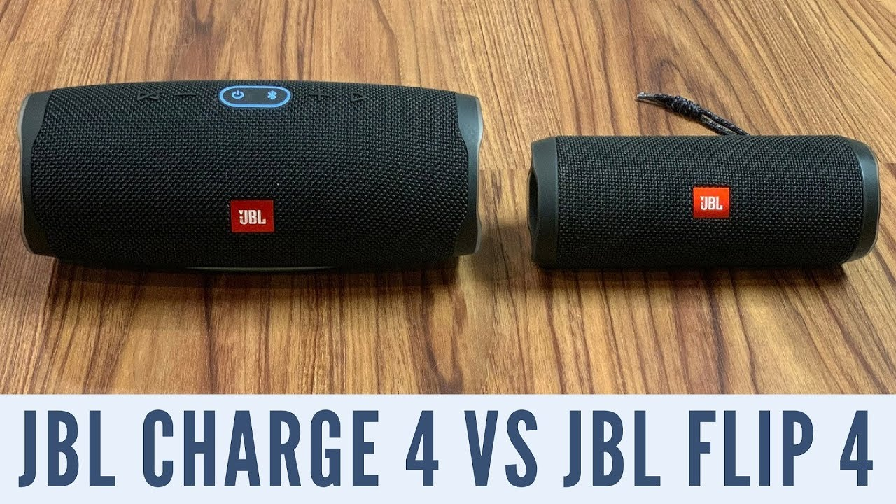 JBL Charge 4 vs. Flip 4: Which Bluetooth speaker should you buy?