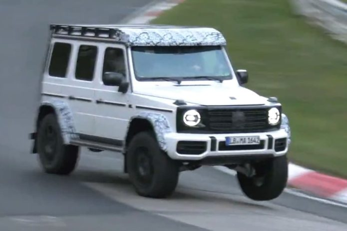 2021 Mercedes-AMG G-Class 4X4² hits the track