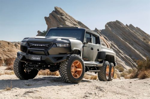 This 6-Wheel-Drive Truck Is Actually the Most Insane Jeep Wrangler Imaginable