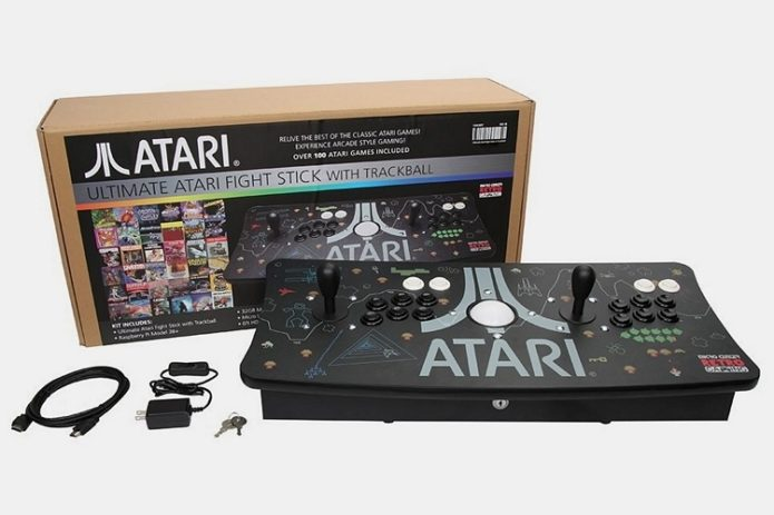 Ultimate Atari Fight Stick With Trackball Is An All-In-One Two-Player Arcade Console With 100 Of Your Favorite Atari Games Onboard