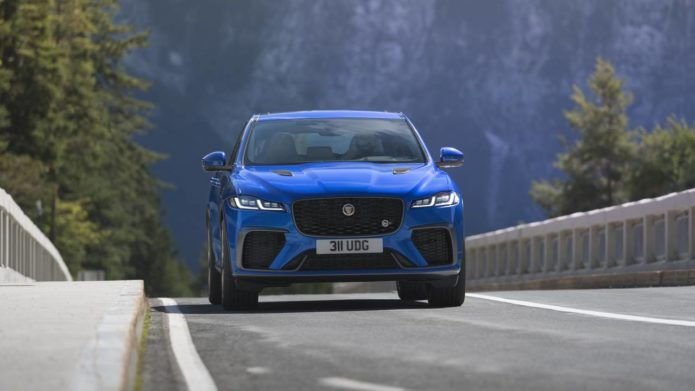 2021 Jaguar F-Pace SVR debuts with more torque, added speed, and better refinement