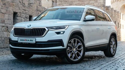2021 Skoda Kodiaq Facelift Spied With Deceiving Camouflage