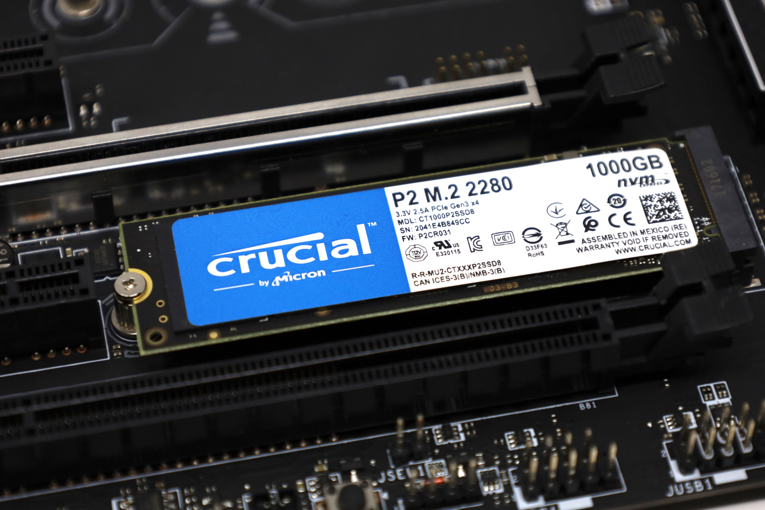 Crucial P2 1TB PCIe Gen3 NVMe M.2 SSD Review