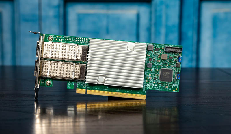 Supermicro AOC-S100GC-i2C 100GbE Intel 800 Series NIC Review