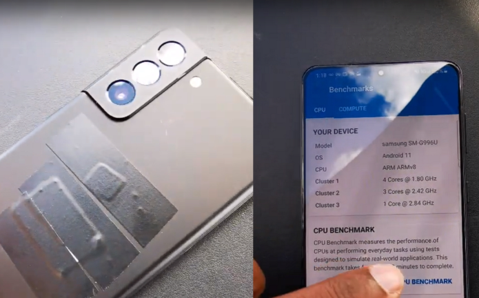Samsung Galaxy S21 with Snapdragon 888 shown off in hands-on video as European memory and colour configurations leak