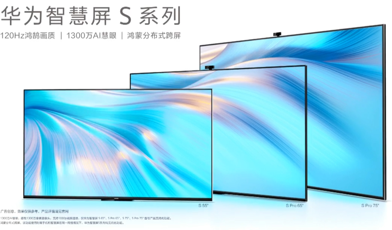 Huawei Smart Screen S Series and S Pro Official With HarmonyOS