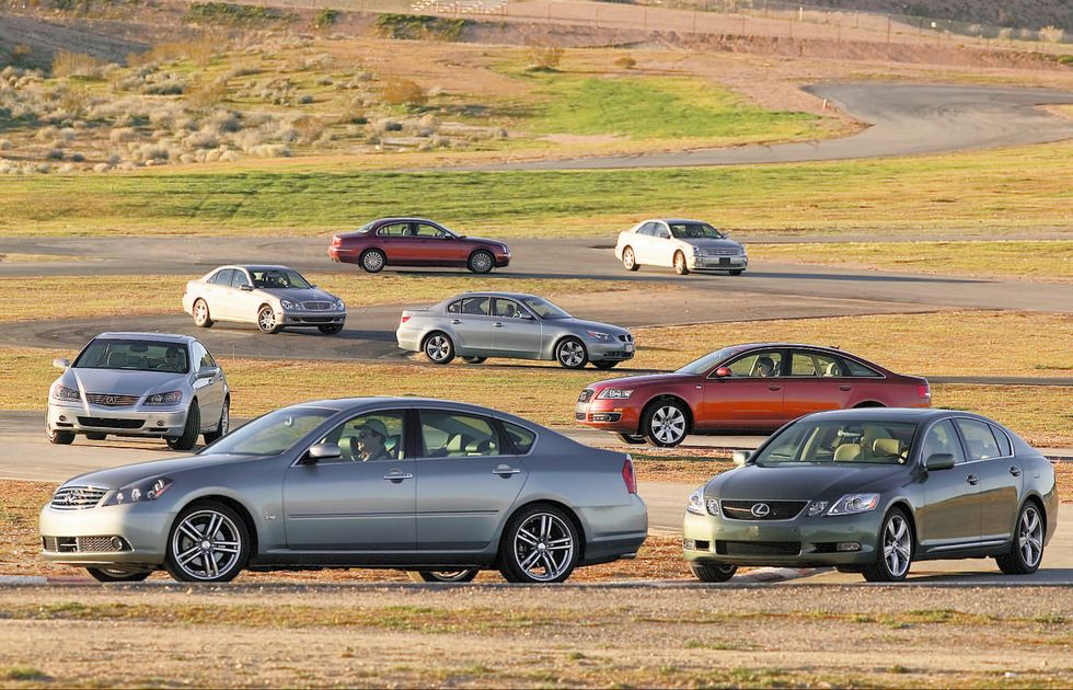 Tested: Eight-Way 2005 Luxury Sports Sedan Showdown