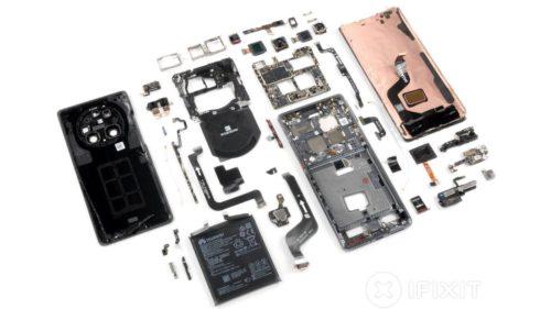 Huawei Mate 40 Pro iFixit teardown reveals a repairability mess