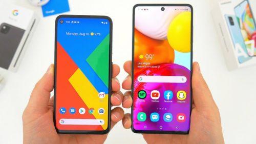 Google Pixel 4a vs. Samsung Galaxy A71