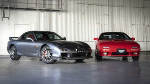 Mazda heritage parts program covers two more classic RX-7 models