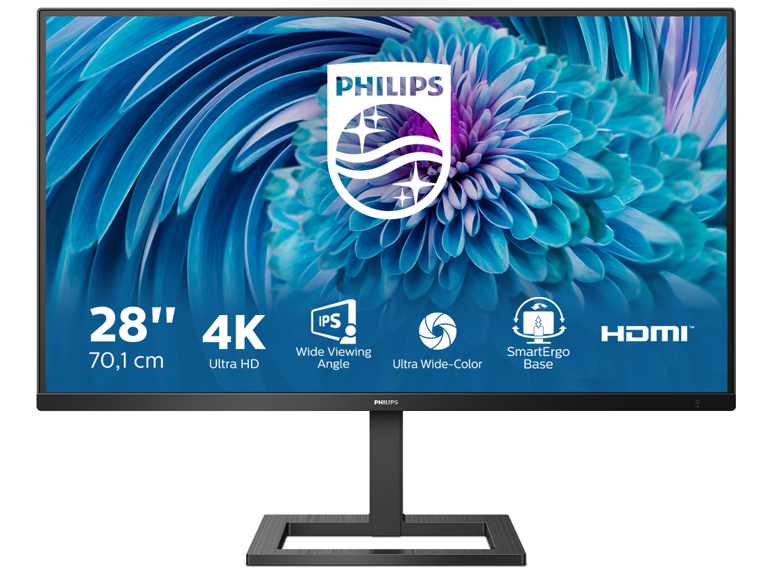 Philips 288E2UAE: A 28-inch monitor with a native 4K UHD resolution and a USB 3.2 hub