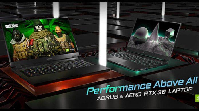 Gigabyte new AORUS, AERO laptops flaunt GeForce RTX 30 graphics