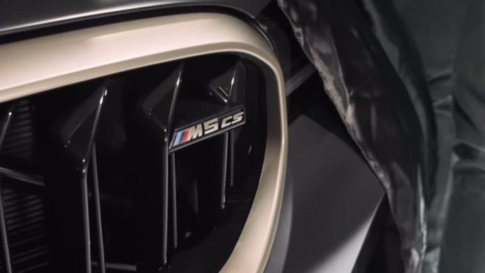 2021 BMW M5 CS tease confirms power and weight advantage