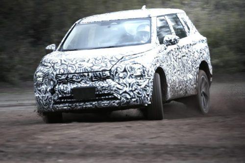 New Mitsubishi Outlander teased testing off-road
