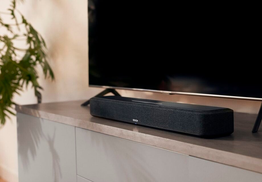 The Denon Home Sound Bar 550 is a compact Dolby Atmos speaker