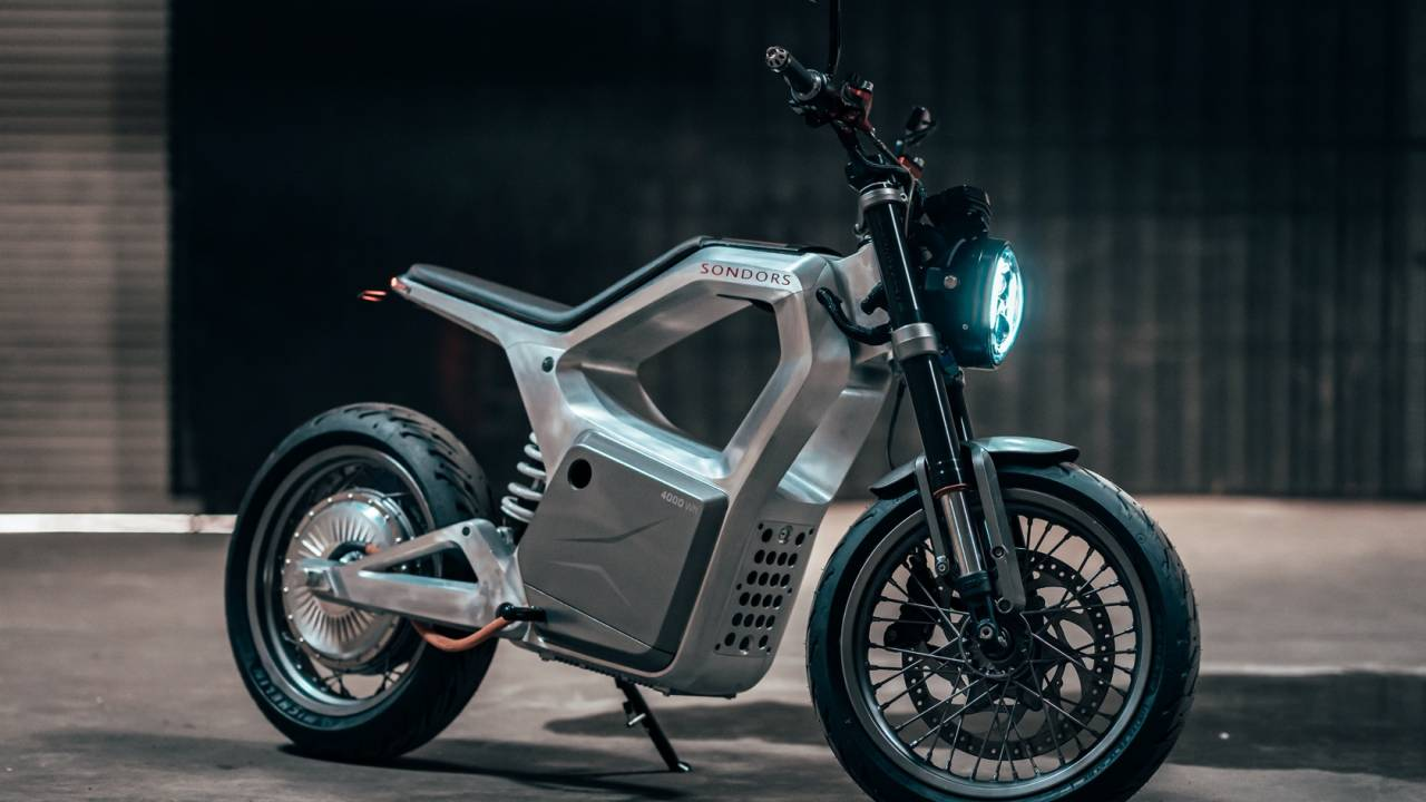 This Sondors Metacycle electric motorcycle is weirdly affordable and looks epic