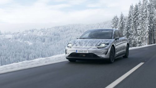 Sony VISION-S electric car tested on public roads in Europe