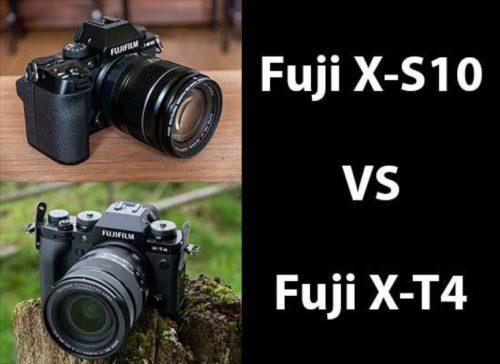 Fujifilm X-T4 vs X-S10