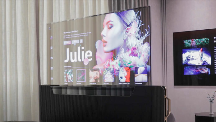 LG unveils transparent OLED TV that rolls up from your bed at CES 2021