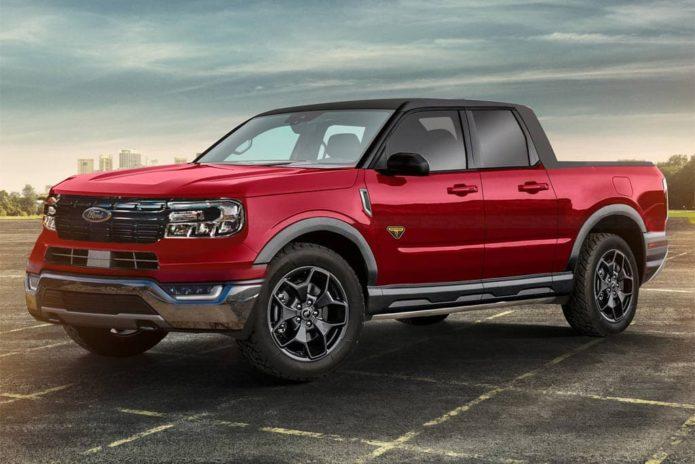 Ford Maverick ute shapes up