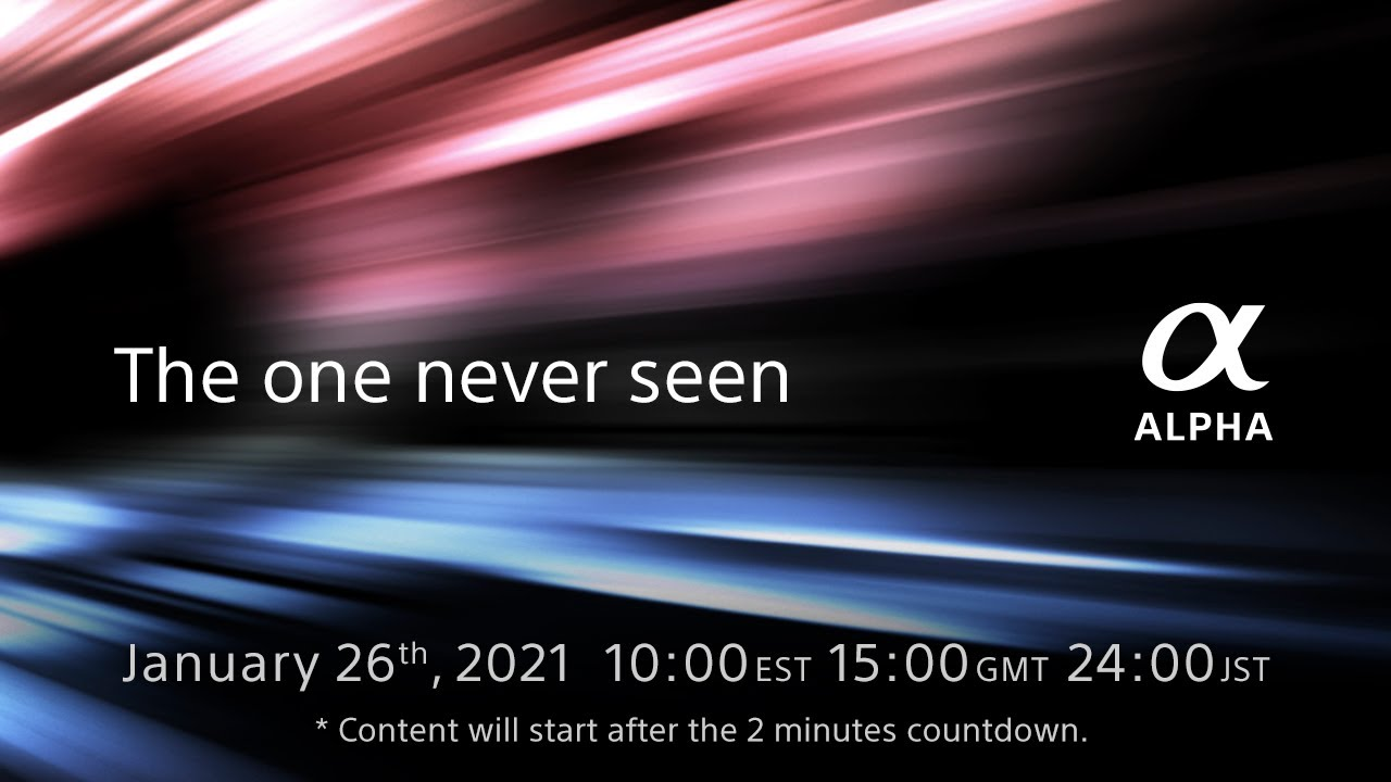 Major Sony Announcement on January 26, 2021 : New 8K A9 Camera ?