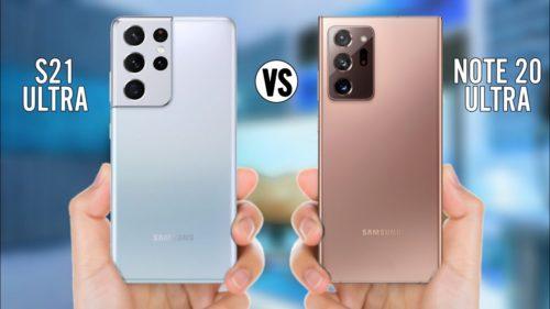 Samsung Galaxy S21 Ultra vs Galaxy Note 20 Ultra specs comparison